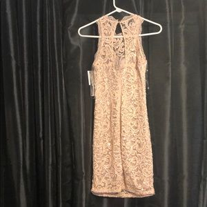 Sequined lace dress NWT